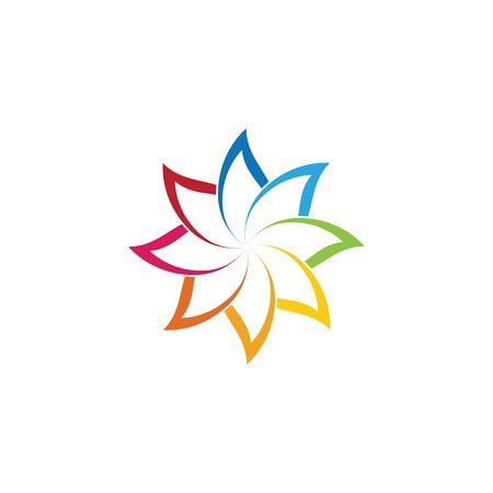 Piękno wektor kwiaty projekt logo Szablon ikona Logo
