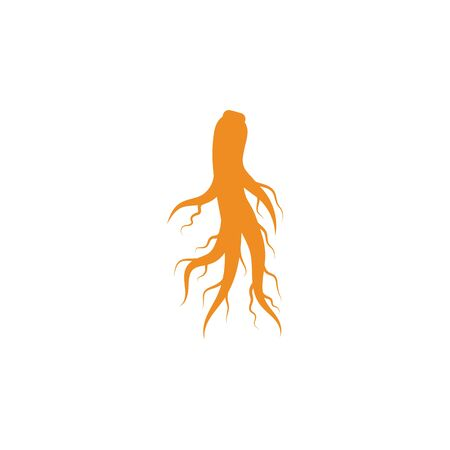 Ginseng icon Vector Illustration design Logo template Ilustracja