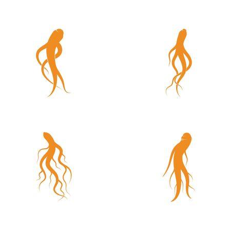 Set of Ginseng icon Vector Illustration design Ilustracja