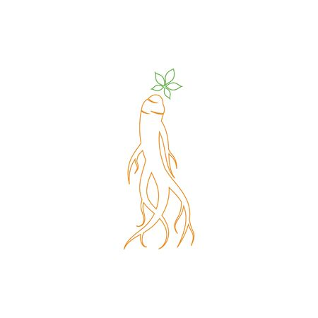 Ginseng icon Vector Illustration design