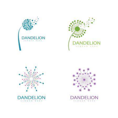 Set of Dandelion vector icon design template