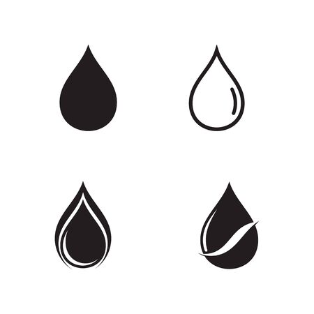 Set of Water drop Logo Template vector illustration design Illustration