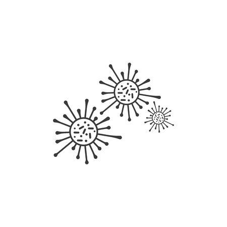 Bacteria vector illustration icon template design