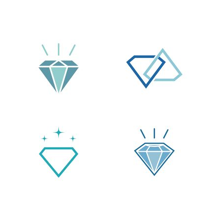 Set Of Diamond  Template vector icon illustration design