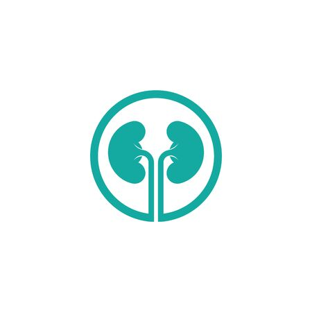 kidney vector illusrtation design logo template Stock Illustratie