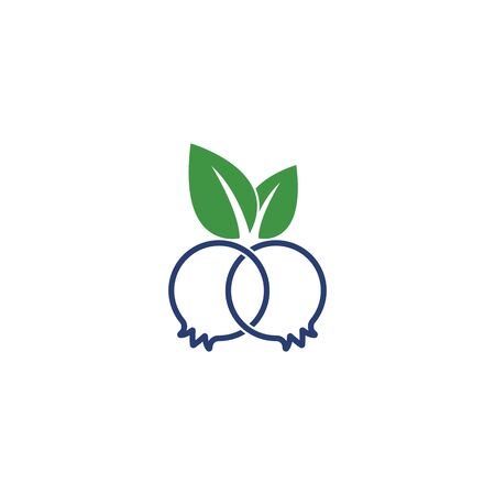 Blueberry logo vector template icon illustration design