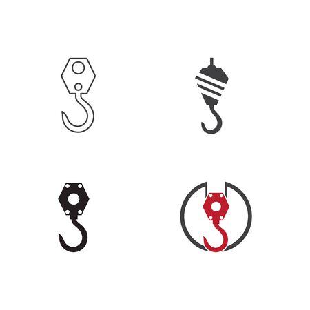 Set of Crane hook logo vector template illustration