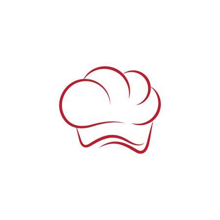 Chef hat logo template vector icon Illusztráció