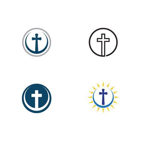 Set of Church logo template design vector illustration