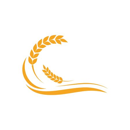 Agriculture wheat Template vector icon design illustration Vector Illustration