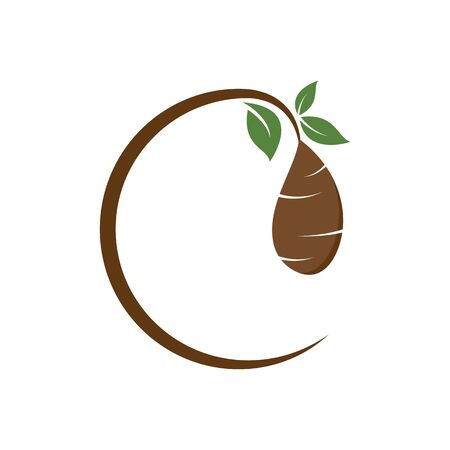 Cocoon logo template vector icon and symbol