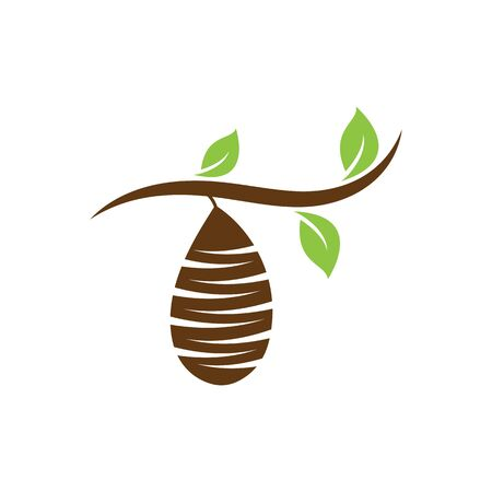Cocoon logo template vector icon and symbol Stok Fotoğraf - 150280763