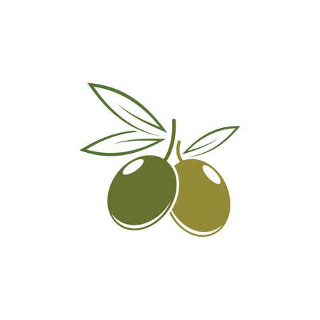 Olive logo template vector icon illustration design