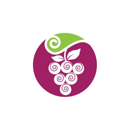 Grapes logo template vector icon illustration design