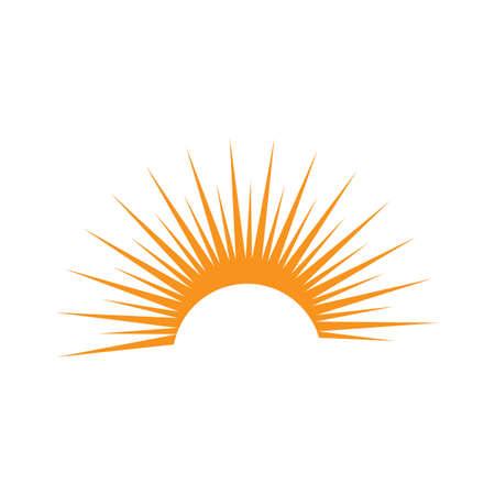 Vector Icon Template Sun over horizon
