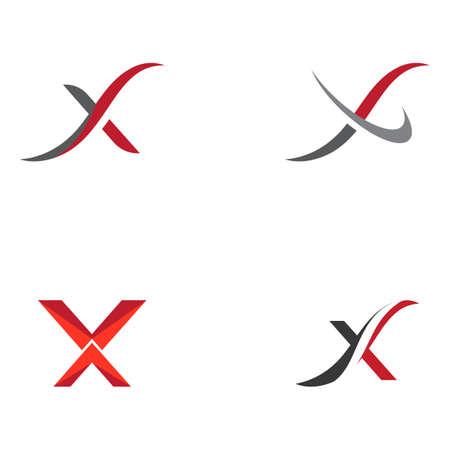 Set X Letter Logo Template vector icon design 向量圖像