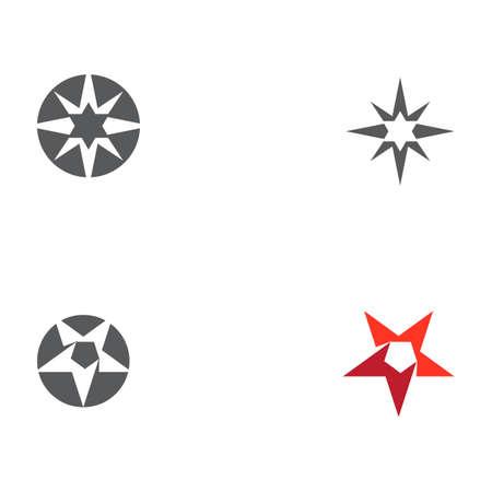 Set Star logo template vector icon illustration design Logo