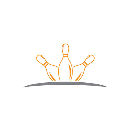 Bowling pin Template vector icon illustration design
