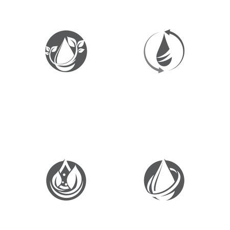 Set Water drop Logo Template vector illustration design Logó