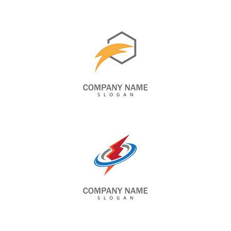 Lightning Logo Template vector symbol nature