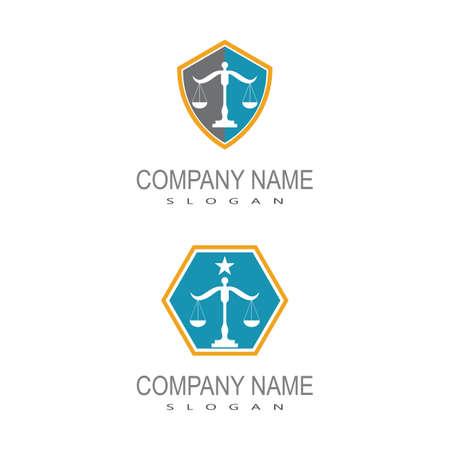 justice law Logo Template vector illsutration design 矢量图像