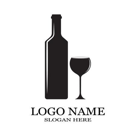 wine glass icon vector illustration template