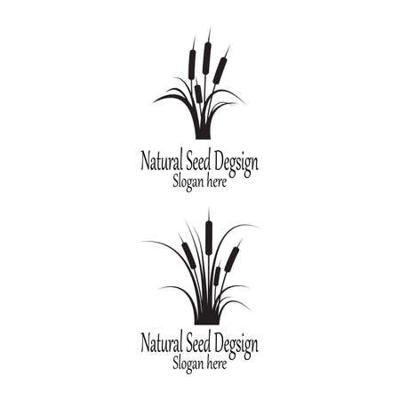 Reeds icon vector design template and symbol