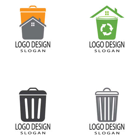 trash can icon vector design template and symbol