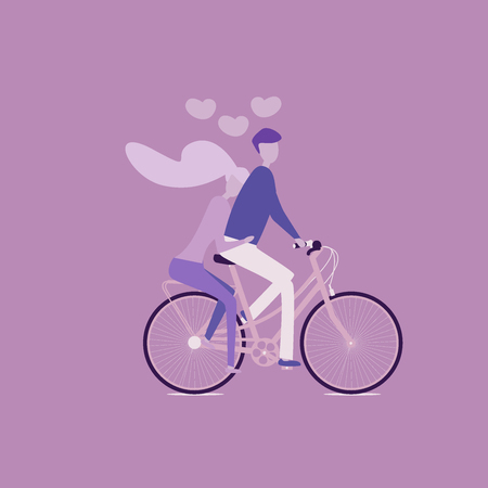 Girl and boy on a bicycle, love, valentine s day