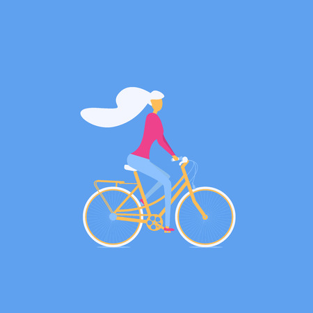 Girl riding a bicycle, otdoor activity, traveling, cycling