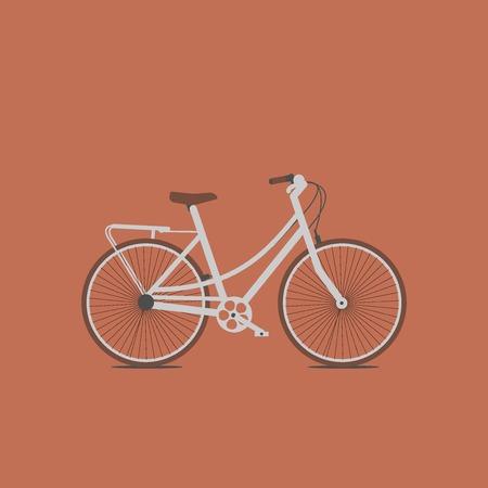 Hand drawn sketch vector illustration of bicycle. Vintage bike