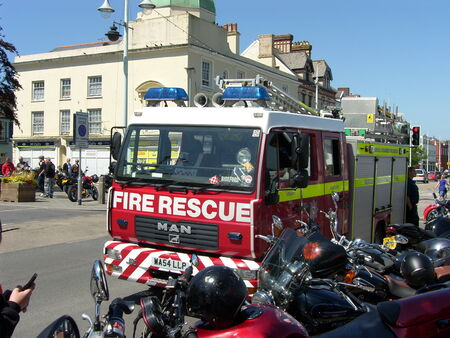 rescue service: Fire and Rescue Service parked in Bideford, Devon