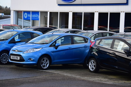 show room: Ford cars parked outside show room in Bideford