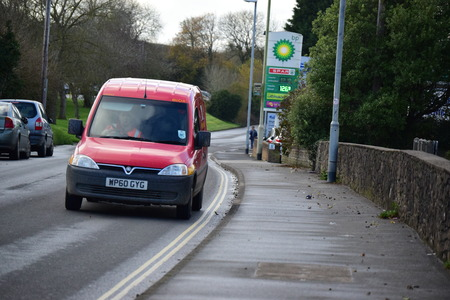 addressed: Royal mail van, Uk postal service Stock Photo