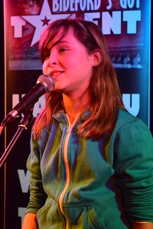 Singing at Bidefords got talent photo