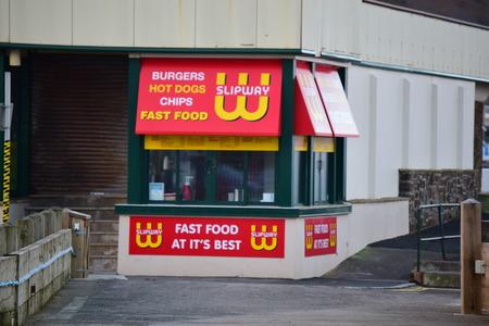 slipway: Take away fast food outlet, Westward Ho!, Devon, UK Editorial