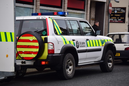 steam rally: St. John Ambulance vehicle