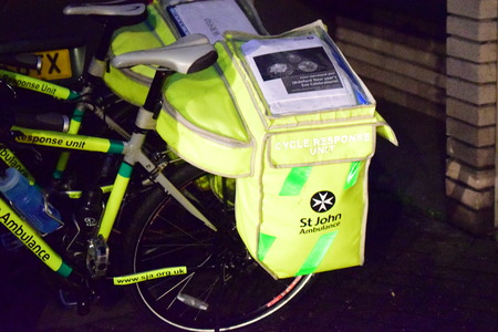 first responder: St John Ambulance first aid cycle responders