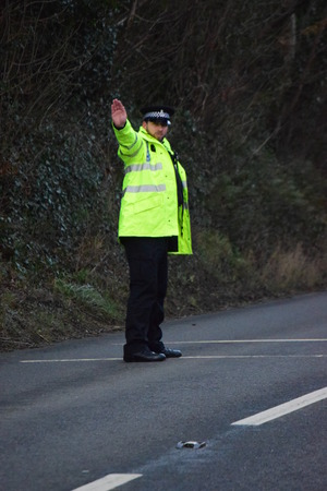 rta: THE A39 is partially blocked after a two-car crash left oil and debris strewn across the road.  Police were called to the scene shortly after 3.30pm after receiving reports of a crash between a Peugeot 208 and Peugeot 106 near Fairy Cross.  PCSO Hannah De