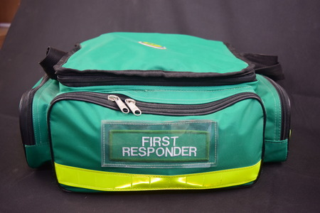 first responder: Medical bag in green