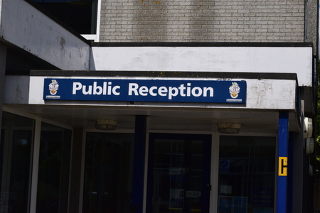 armed robbery: Barnstaple police station after armed robbery took place on 28th May 2015 at coopers in the high street