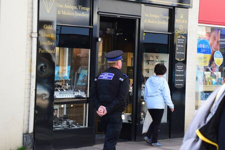 robbed: Coopers Barnstaple after a robbery took place
