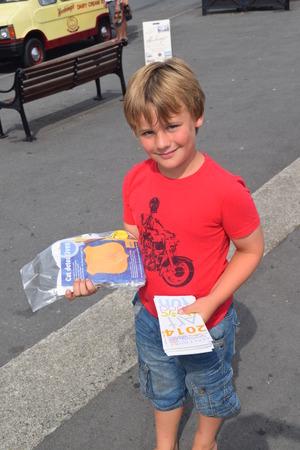 leaflets: appledore summer fete 2014 handing out leaflets