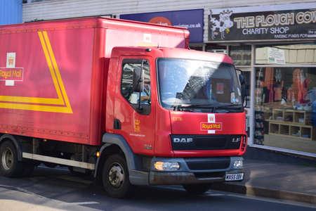 written communication: Royal mail Van in Barnstaple - north Devon
