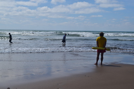 RNLI Lifeguards on duty at Bude