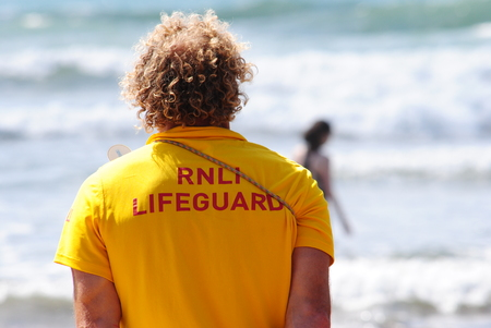 duty: RNLI Lifeguards on duty at Bude
