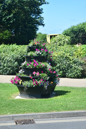 ornamental garden: Planter Stock Photo