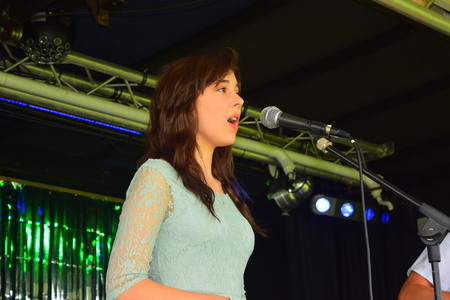 warren: Maddie Jane warren on stage at Bideford Summer fete in Bideford park 2014 Editorial