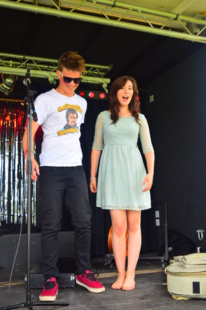 warren: Ethan young and Maddie Jane Warren at Bideford Summer fete in Bideford park 2014