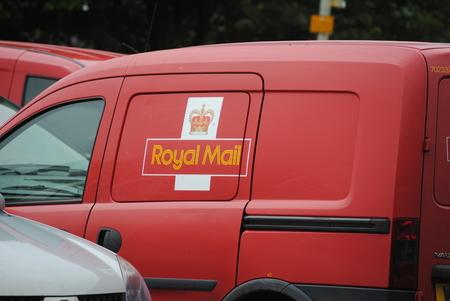 written communication: Royal mail van, Uk postal service Editorial